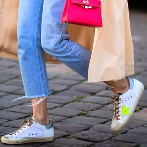 NIB🌟Golden Goose💯Leather Superstar Sneakers